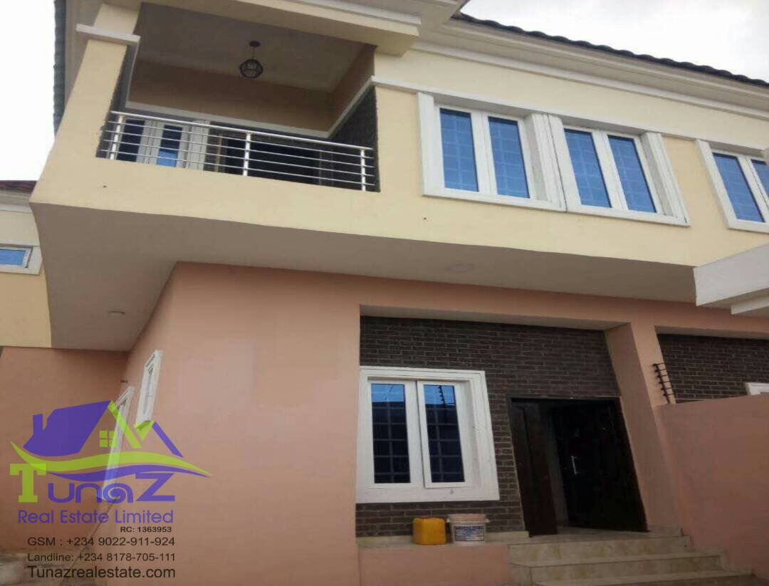 A brand new 4 bedroom fully detached at oral estate opposite eleganzer