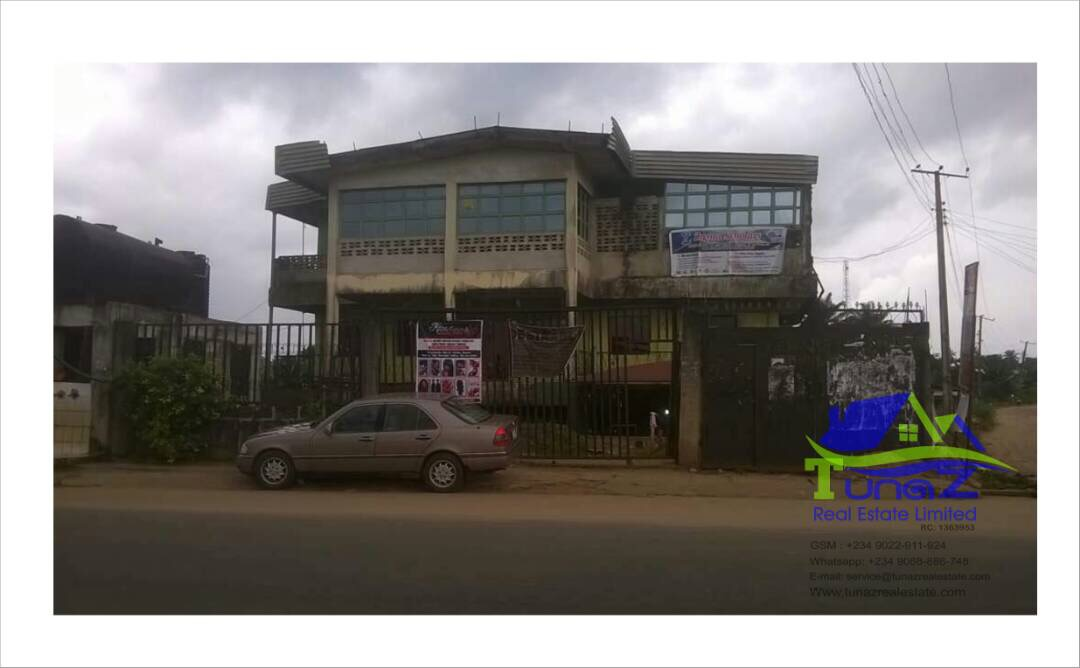 A 2 Stores Building Facing The Express Road In Umudike, Abia State