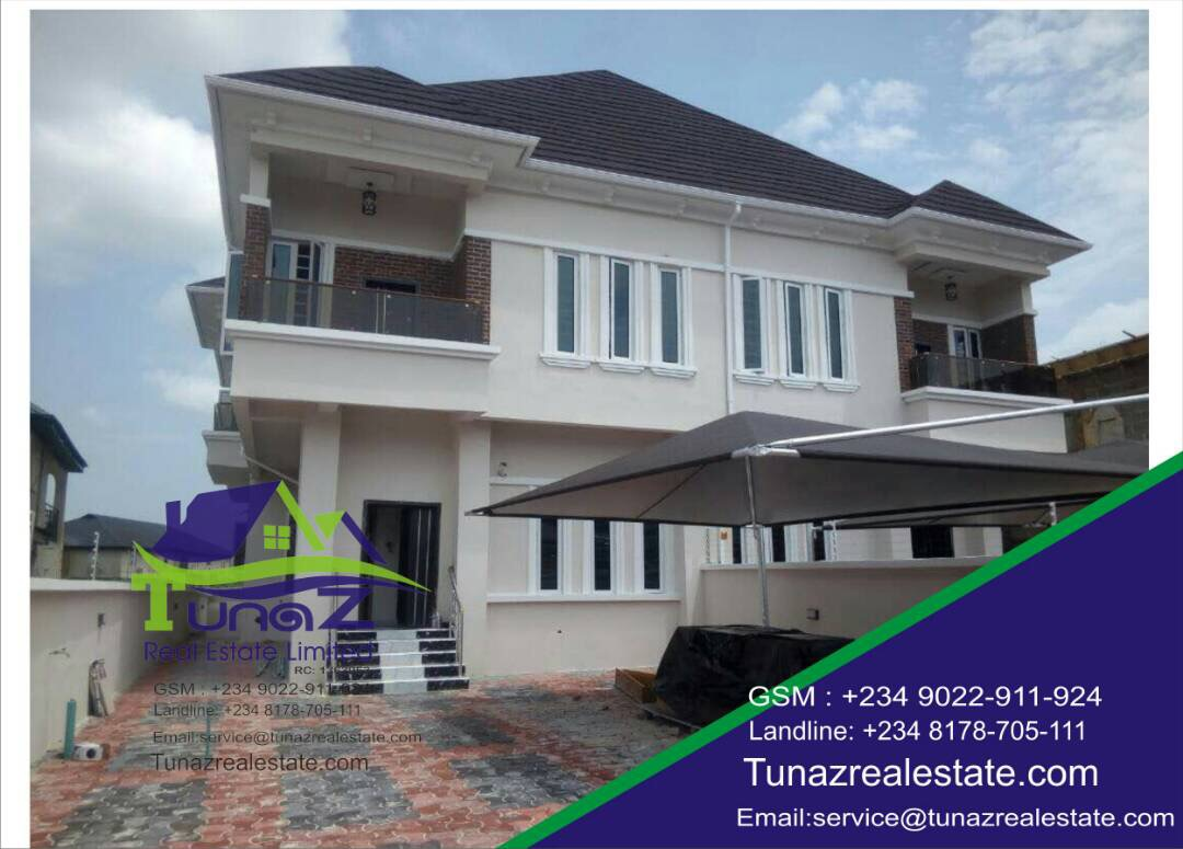 A Brand New Tasteful Finished 4 Bedroom Semi Detached Duplex With A BQ And A Large Compound