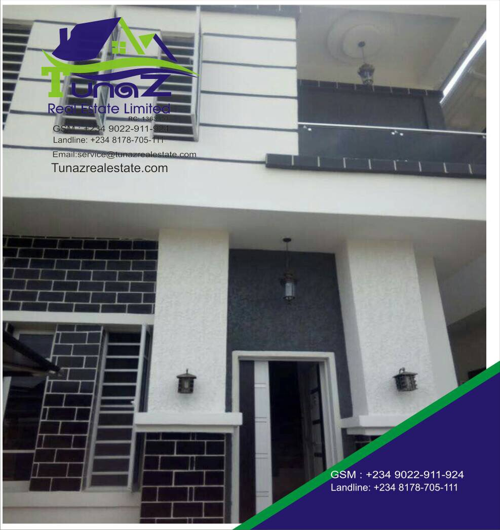 A Brand New Fully Furnished 4 Bedroom Duplex With A BQ In Thomas Estate Ajah For Sale