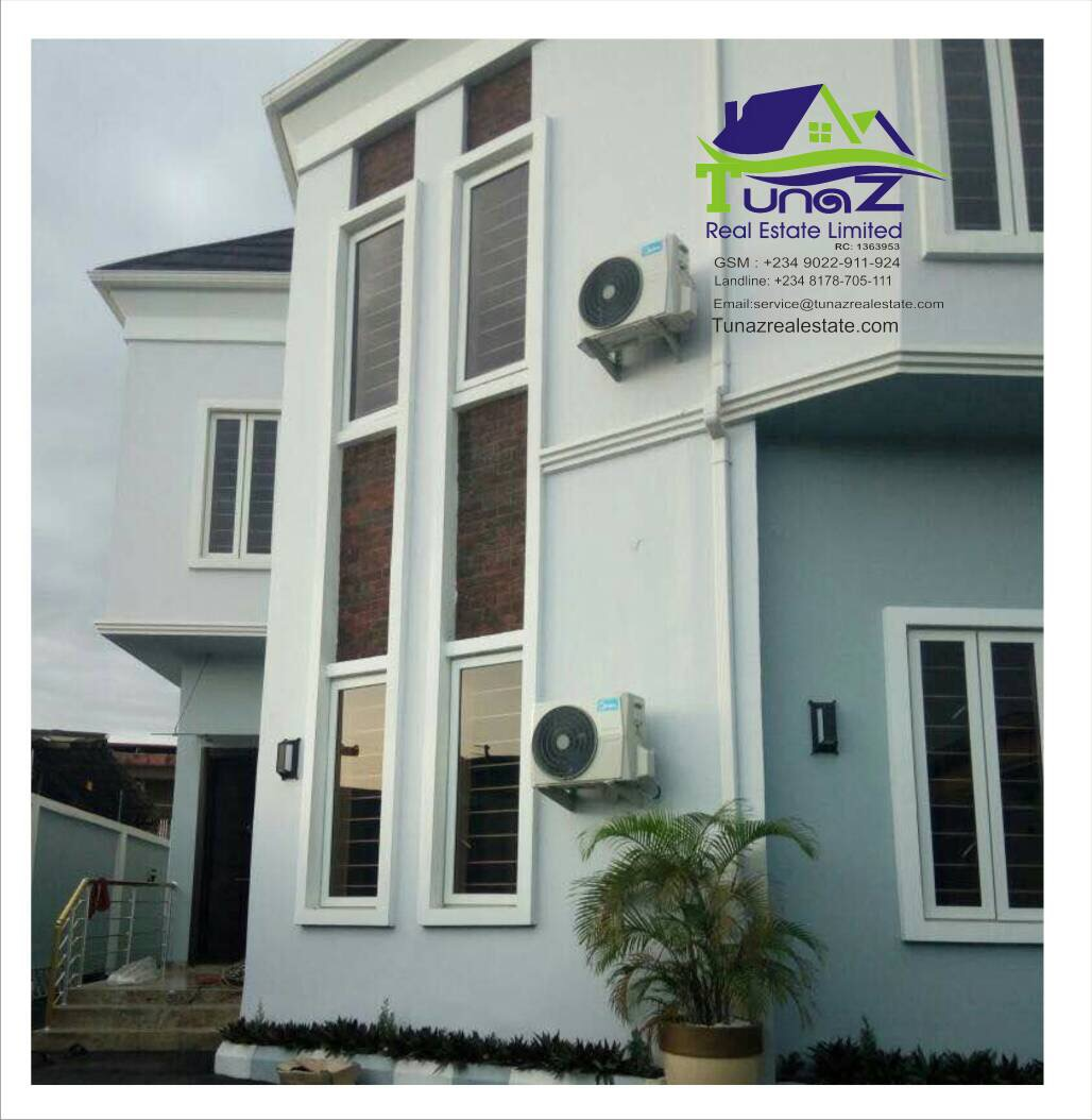 A Beautiful 7 Bedroom Duplex With A 2 Room/ Parlour BQ Sitting On 2 Plots Of Land In FESTAC Town For Sale