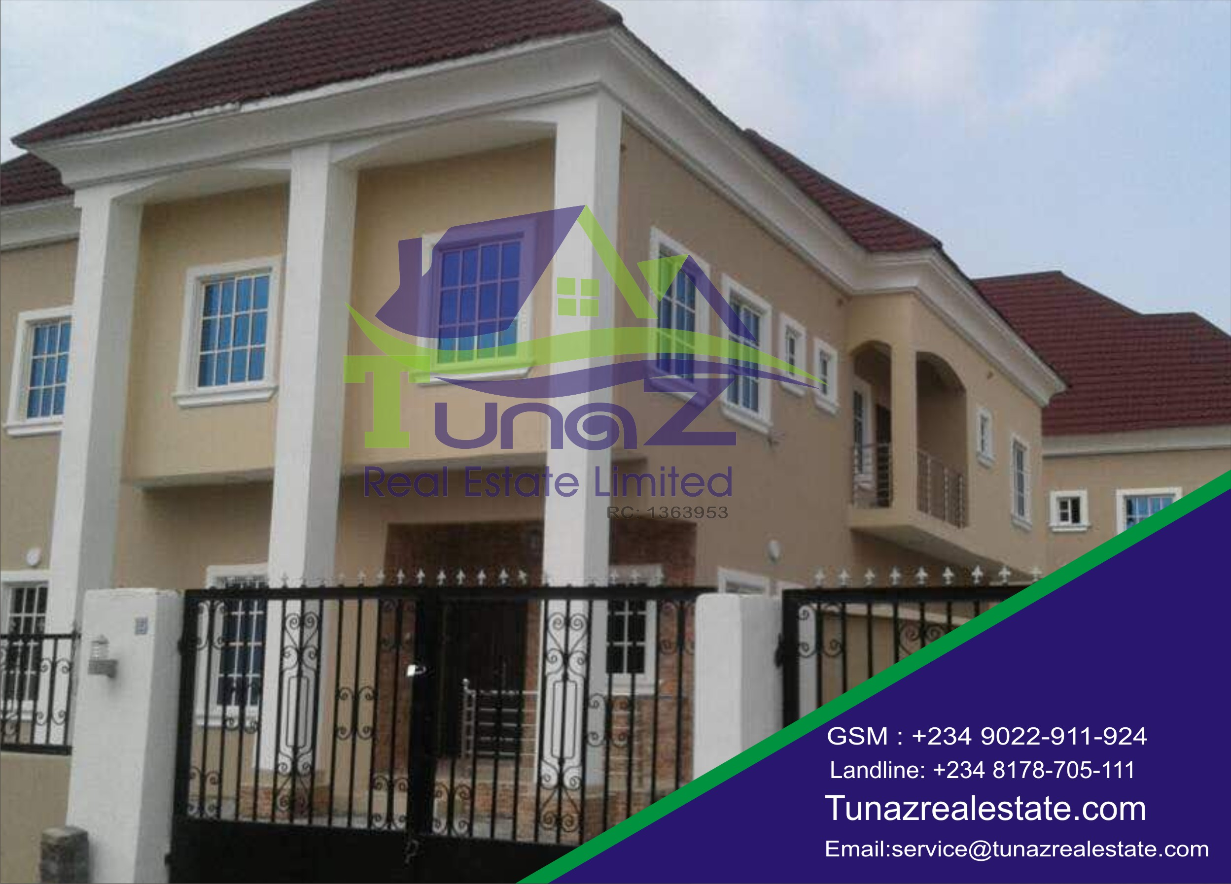 A 5 (2 Units) Bedroom Fully Detached Duplexes With A BQ And Tastefully Finished With Large Car Packs And Spaces For A Pool For Sale