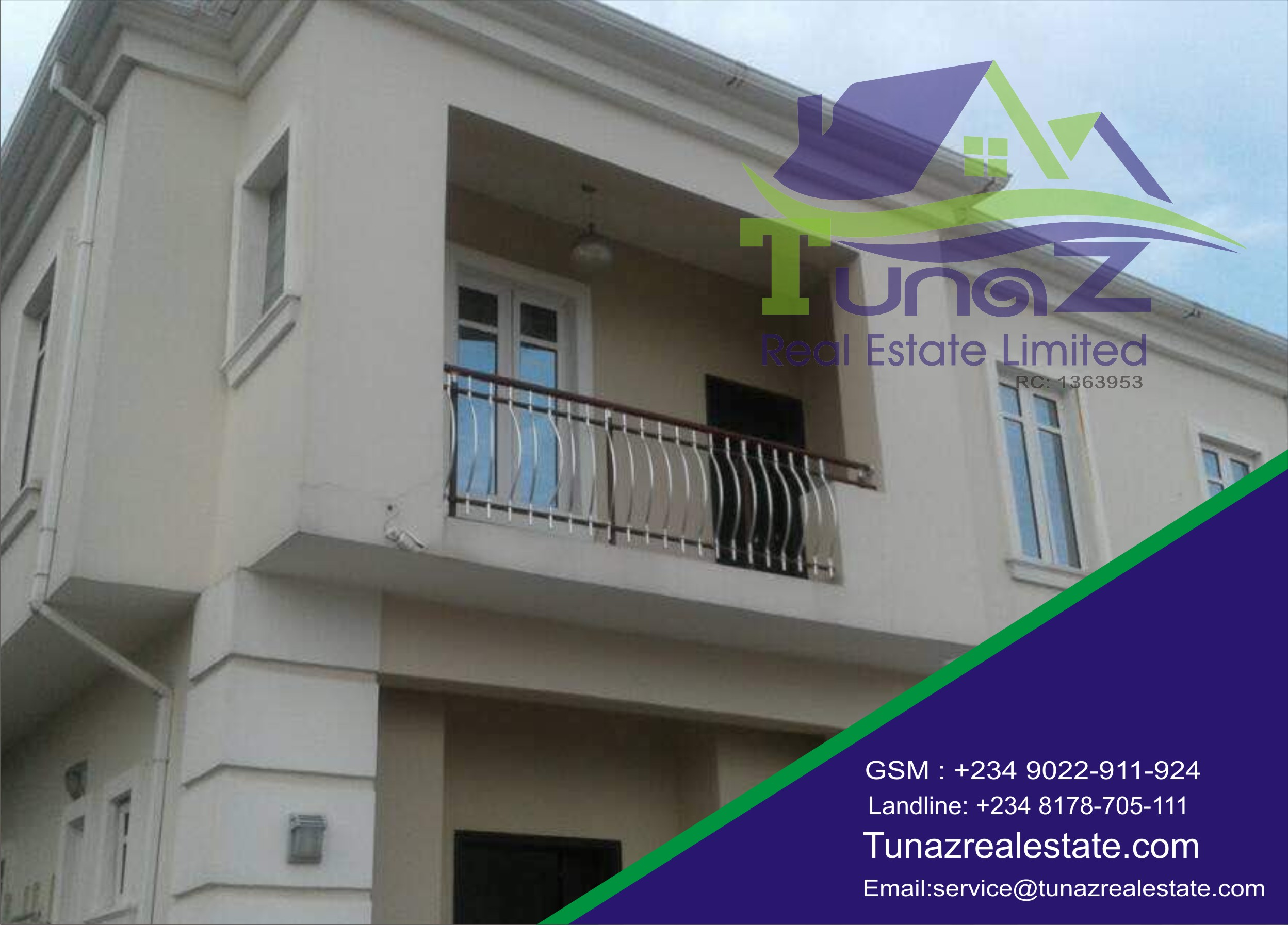 A 5 Bedroom Fully Detached Duplex With A 5 Car Packing Space For Sale