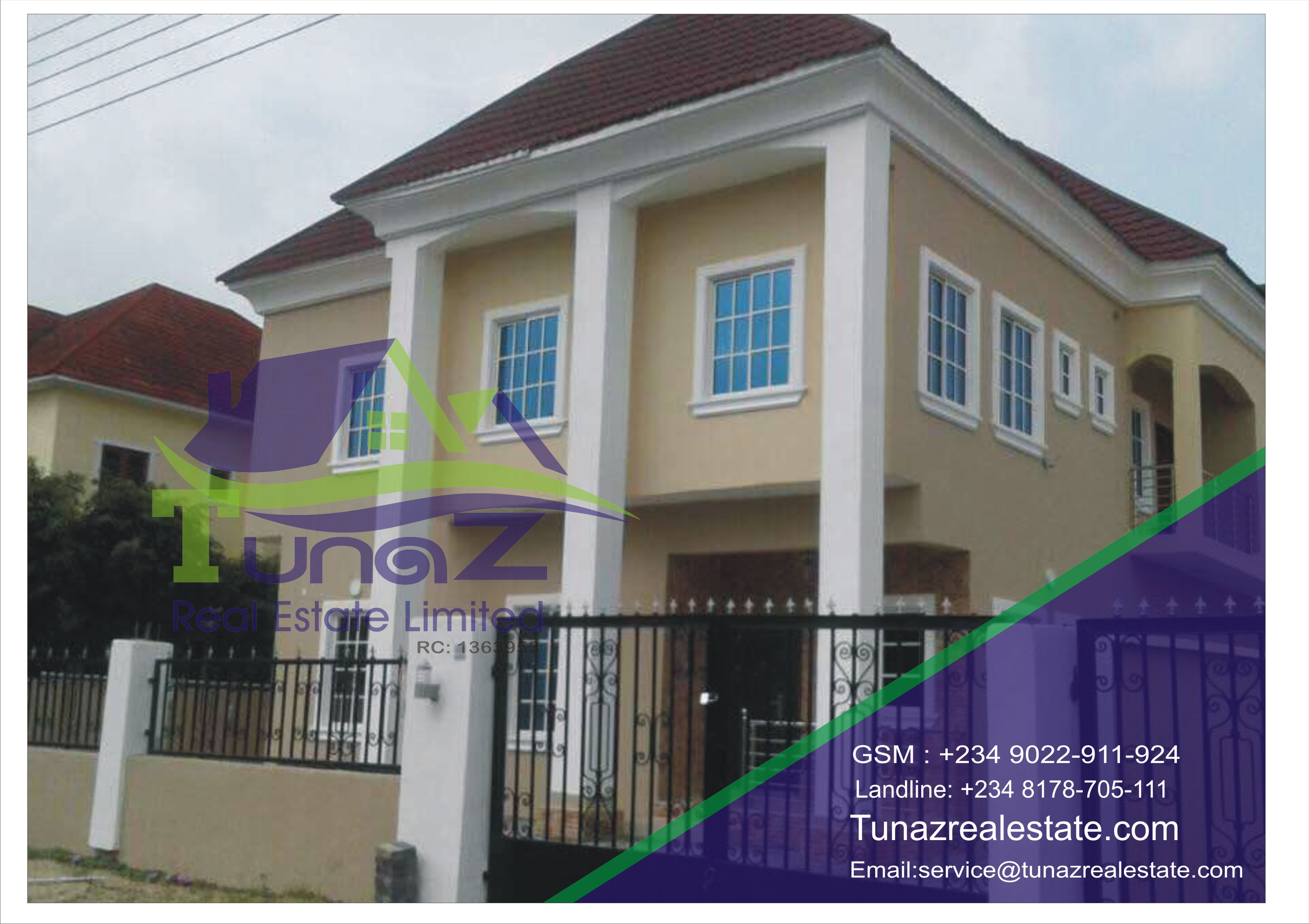 A 5 (2 Units) Bedroom Fully Detached Duplexes With A BQ And It Is Tastefully Finished With Large Car Packs And Spaces For A Pool Is For Sale