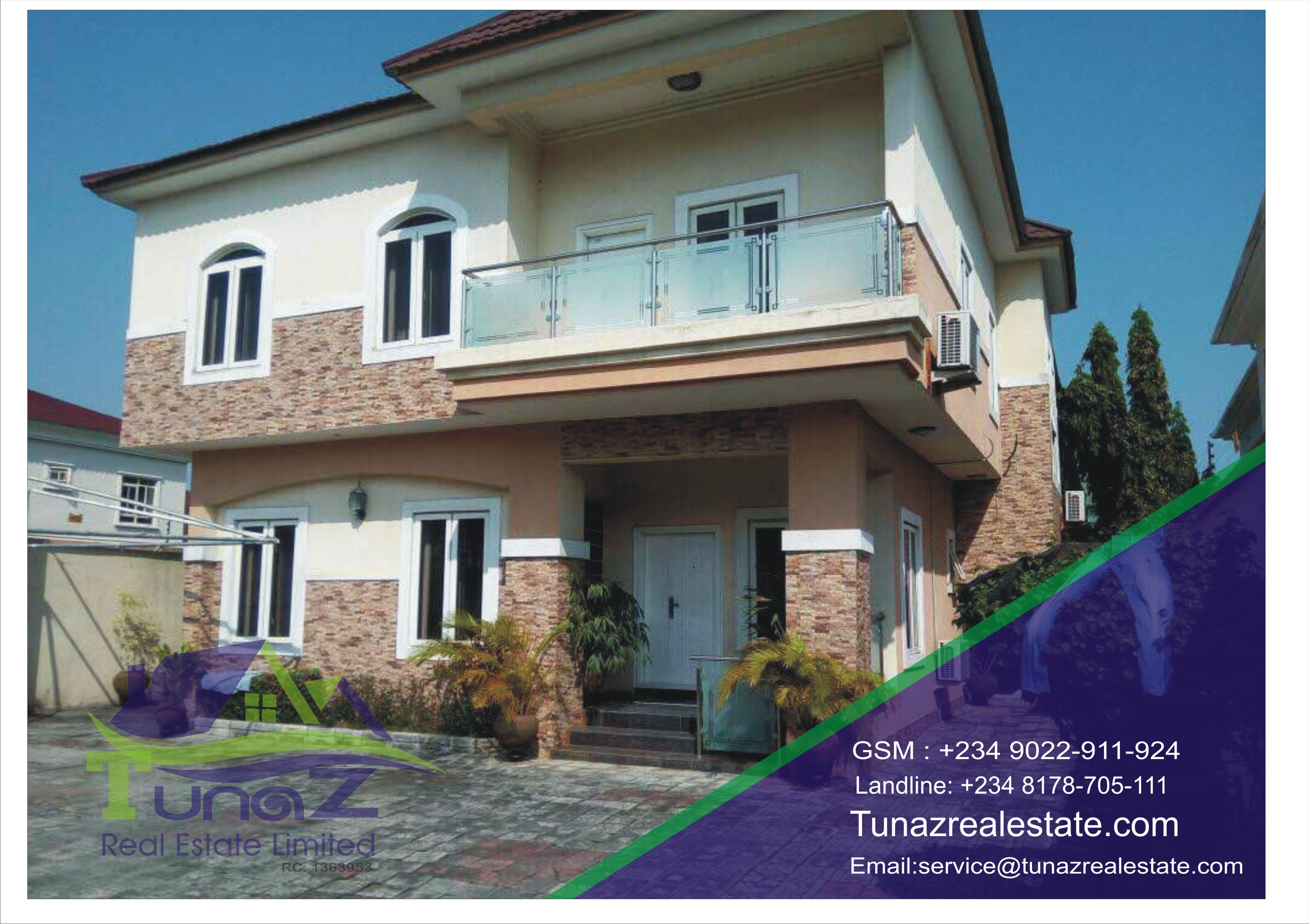 A 5 Bedroom Fully Detached Duplex With A 2 Rooms BQ For Sale