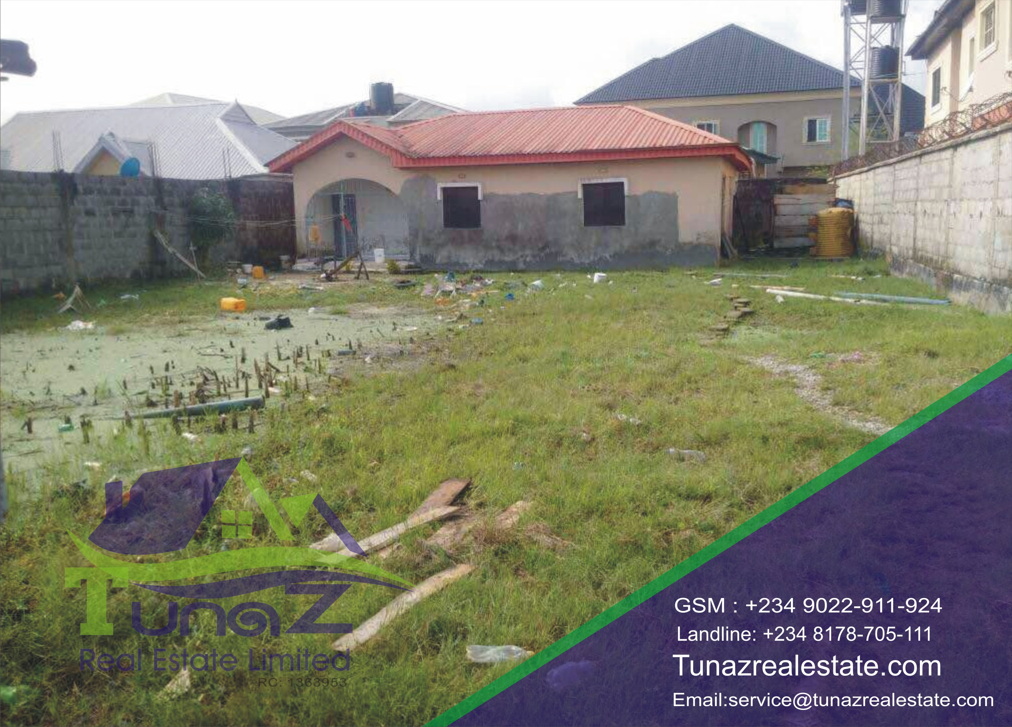 A Bungalow Sitting On 720 Sqm Of Land Fenced And Gated For Sale