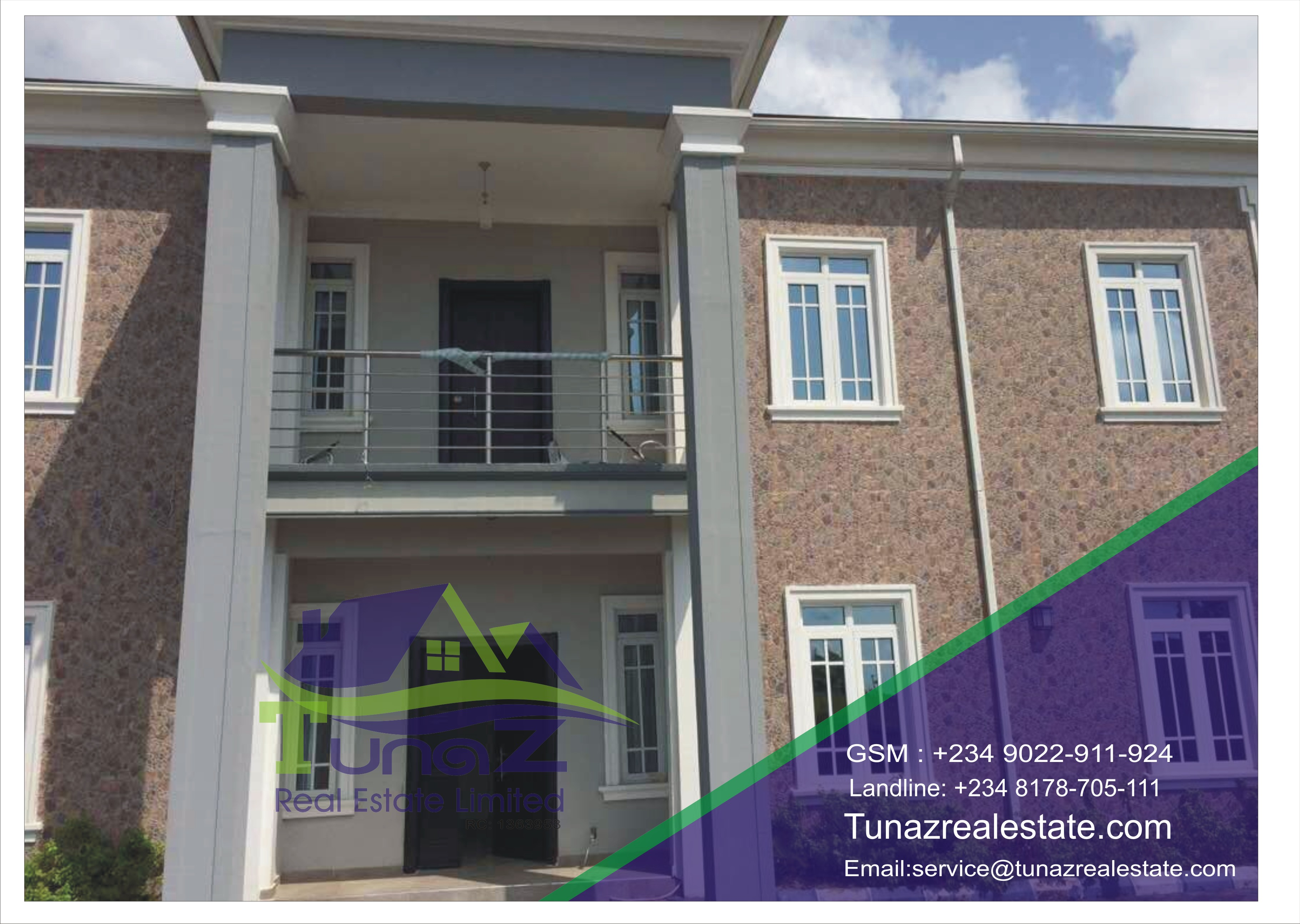 A Beautiful 5 Bed Room Duplex Sitting On 750 Sqm. All Room Ensuite With Big Space For Car Park And 2 Rooms BQ. Spacious Kitchen Large Wardrobe For Sale