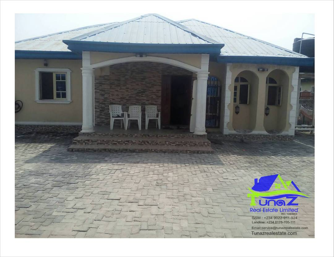 A 3 Bedroom Bungalow Sitting On Standard Full Plot Of Land For Sale